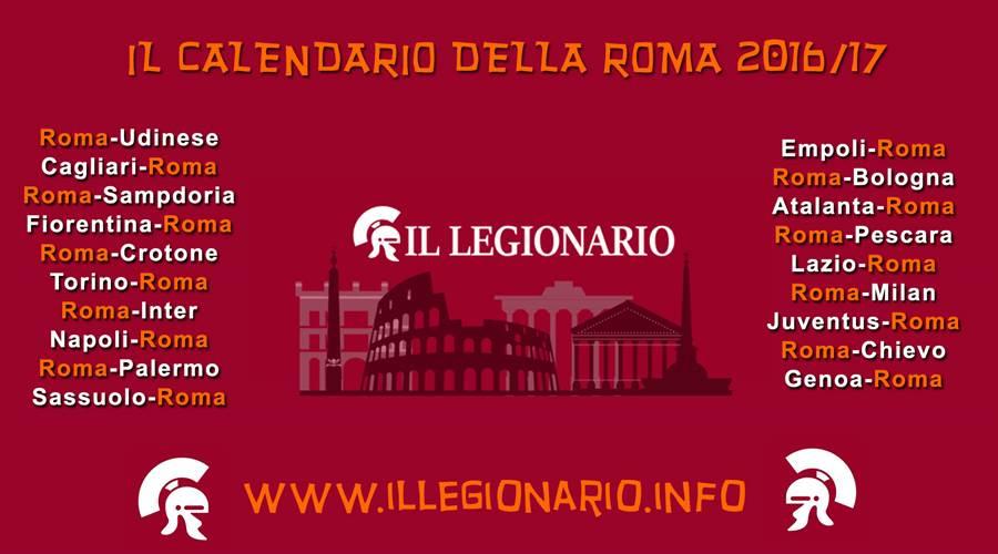 Calendario Roma.Stilato Il Calendario Della Serie A 2016 17